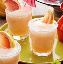 Frozen red grapefruit margaritas