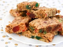 Fruitcake cookie bars