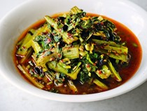 Fuchsia Dunlop's twice-cooked Swiss chard (Hui gua niu pi cai) [Bake the Book]