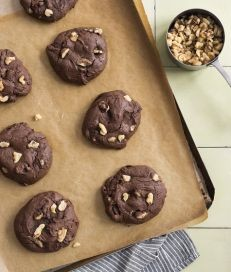 Fudgy walnut brownie cookies