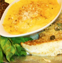 Garlic butter orange roughy