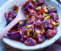 German-style purple potato salad