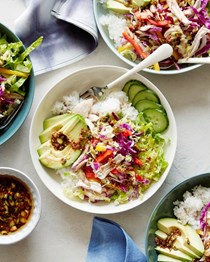 Ginger scallion chicken bowls