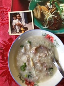 Gingery marinated fish porridge