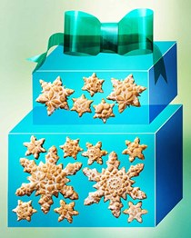 Glazed spiced snowflakes