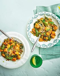 Gnocchi with sun-dried tomato pesto, peas and pecorino