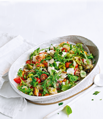 Goat's cheese and artichoke panzanella