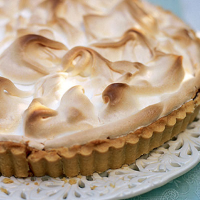 Gooseberry meringue pie