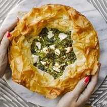 Greek courgette and herb pie