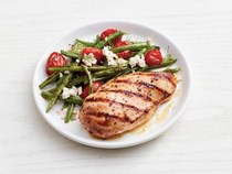 Greek grilled chicken with green beans