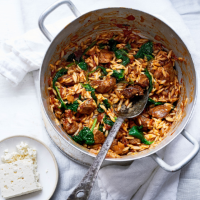 Greek lamb stew with orzo (Youvetsi)