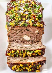 Greek meatloaf with spinach and feta