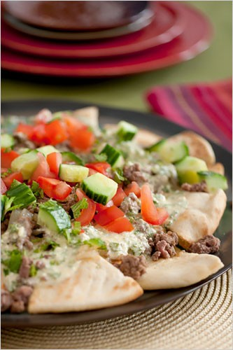 Greek Style Nachos Recipe — Dishmaps