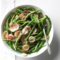 Green beans & radish salad with tarragon pesto