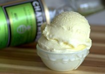 Green Chartreuse ice cream
