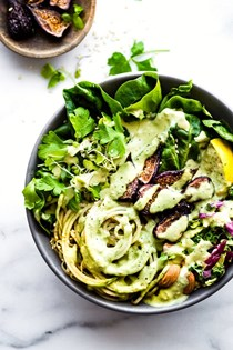 Green goddess fig nourish bowls