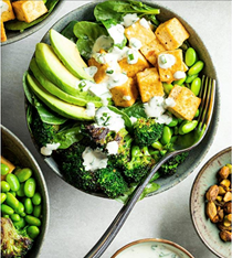 Green goodness salad with tofu