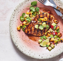 Grilled ancho chicken & apricot salsa