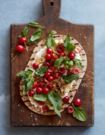 Grilled cherry flatbread
