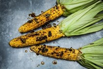 Grilled corn with chilli oil-infused butter