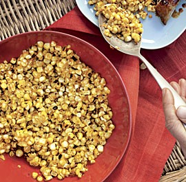 Grilled corn with spiced tasso butter