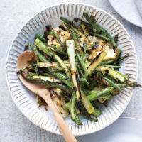 Grilled greens and asparagus