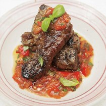 Grilled lamb chops with chunky salsa