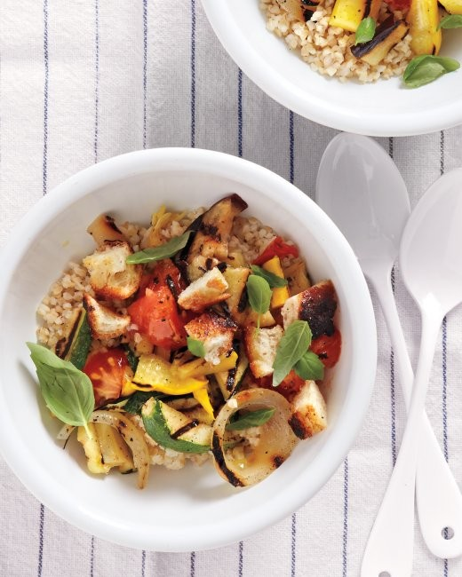 Grilled ratatouille and bulgur salad (page 60)