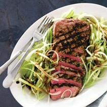 Grilled sirloin with celery and balsamic vinegar (Tagliata di manzo con sedano all'aceto balsamico)