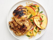 Grilled Thai chicken and nectarine salad