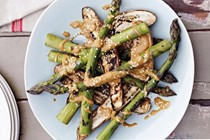 Grilled veges with sesame sauce