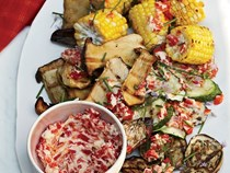 Grilled vegetables with roasted-chile butter [Grace Parisi]
