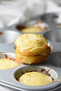 Gruyère and dill potato stacks