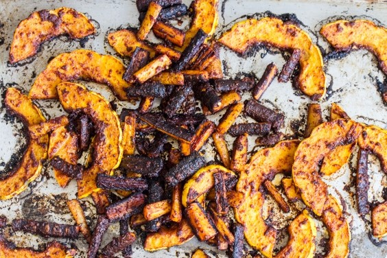 Harissa-roasted squash and carrots recipe | Eat Your Books