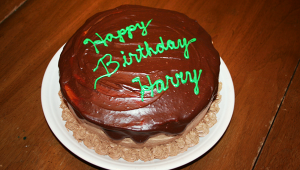 Marvelous Harrys First Birthday Cake Chocolate Layer Cake Recipe Eat Funny Birthday Cards Online Alyptdamsfinfo