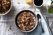 Hazelnut coffee granola