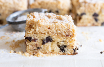 Heilala coffee cake with streusel topping