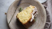 Herbes de Provence and rose olive oil cake