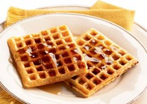 Hickory and maple waffles