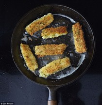 Home-made fish fingers