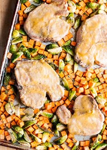Honey-mustard sheet pan pork chops