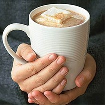 Hot cocoa with marshmallows