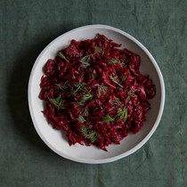 Hot grated beetroot