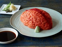 How to make a sushi brain for Halloween