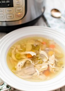 How to make chicken soup in the pressure cooker
