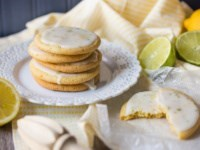 Iced lemon lime cookies