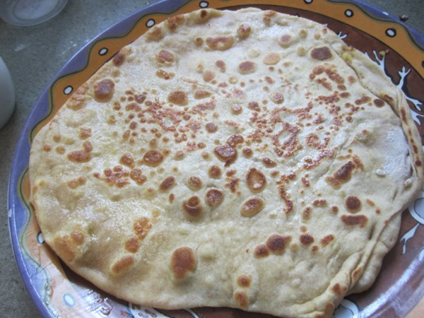 Indian breakfast (Aloo paratha)