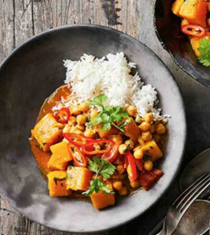 Indian pumpkin & chickpea curry
