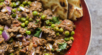 Indian spiced beef and peas (Keema matar)