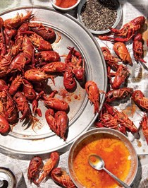 Indian spiced crawfish boil